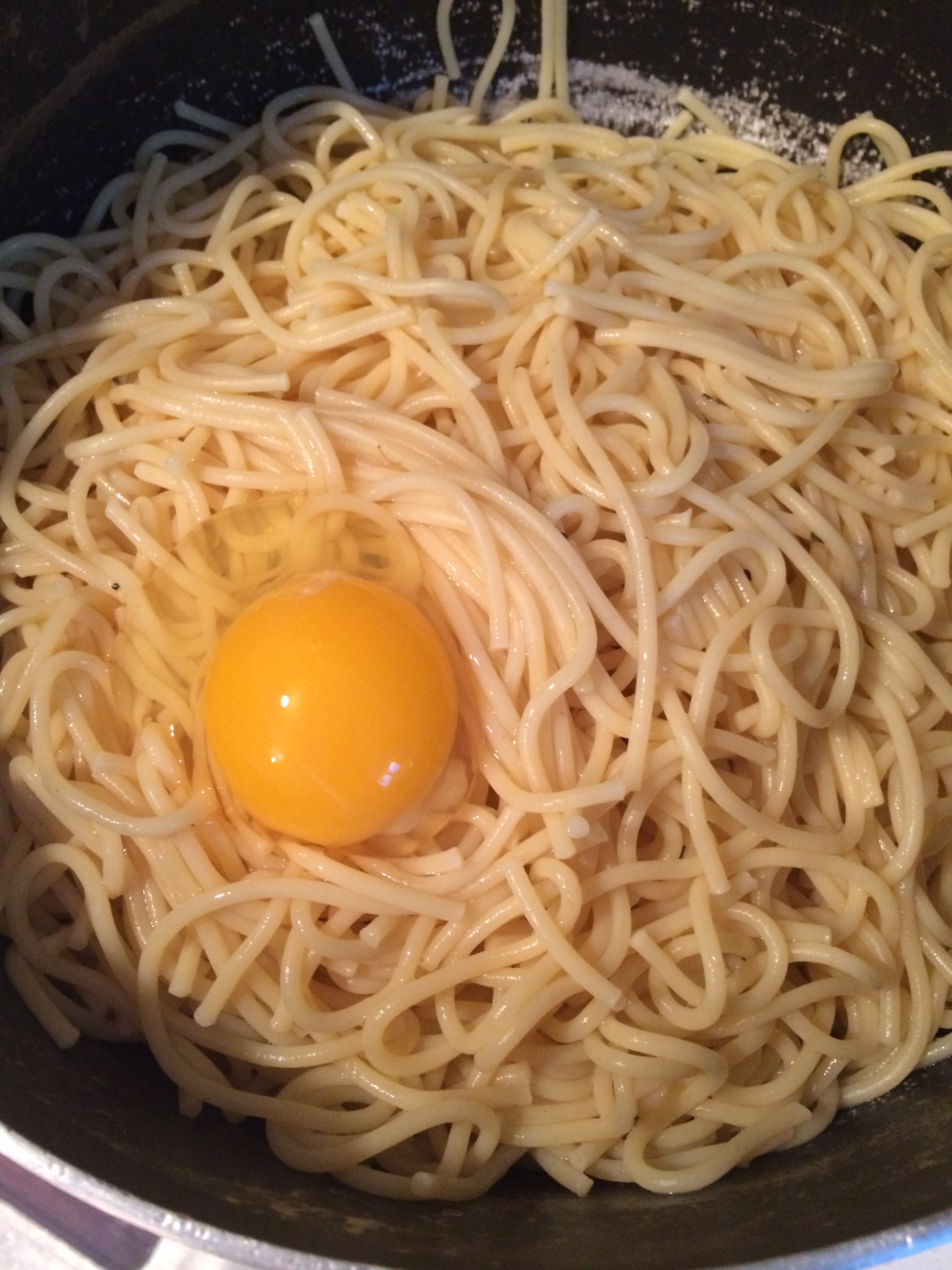 Noodles stuck to bottom of pan